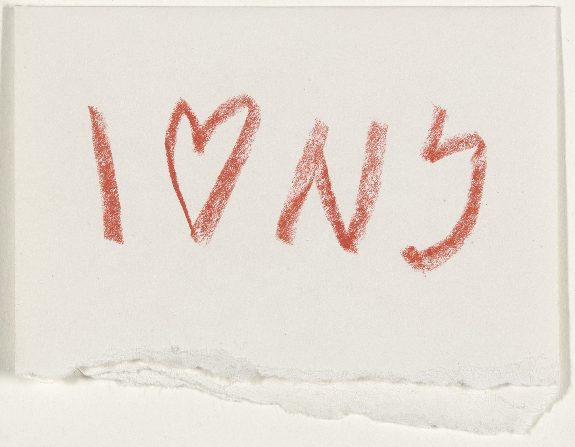 "First sketch for the logo ""I Love New York"", 1977 © MoMA"