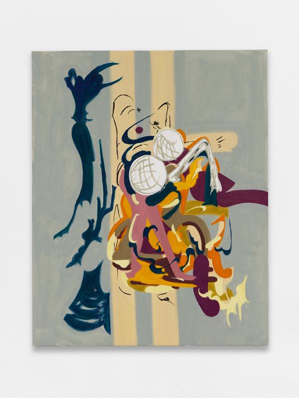 Ruinous Empathy (2018) de Lisa Jo. Huile sur toile, 40 x 50 cm.