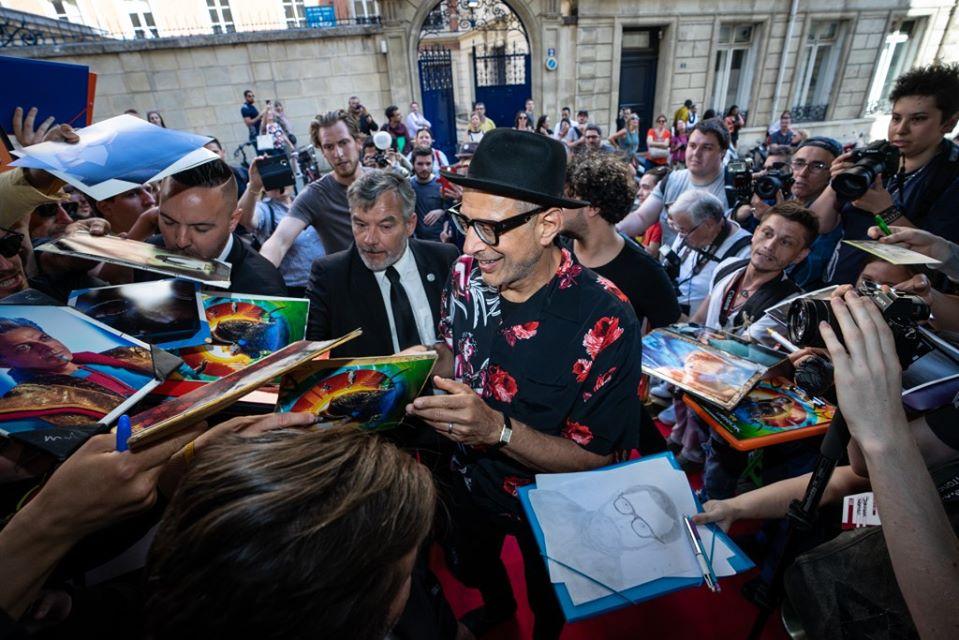 Jeff Goldblum à Paris, invité d'honneur de la 8e édition du Champs-Elysées film Festival en 2019.