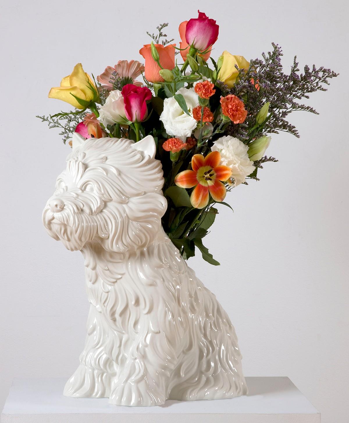 "Jeff Koons, vase ""Puppy"", 1998"
