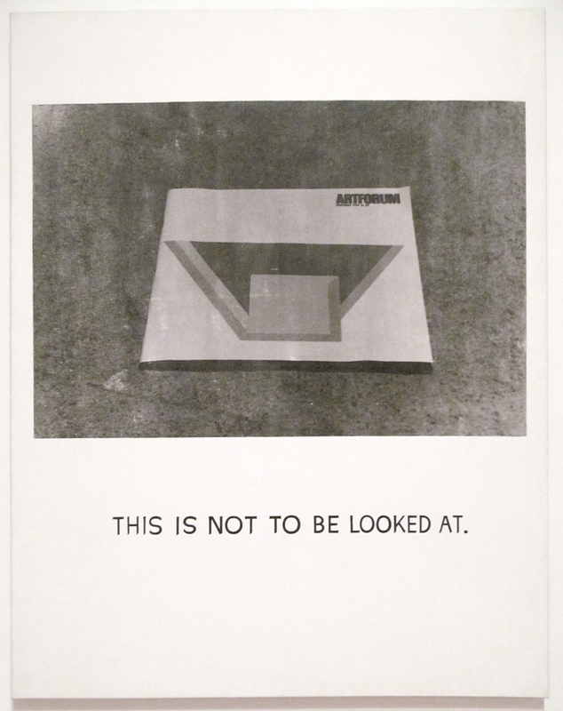 This Is Not to Be Looked at (1966-1968), acrylique et photoémulsion sur toile, 150 x 115 cm.