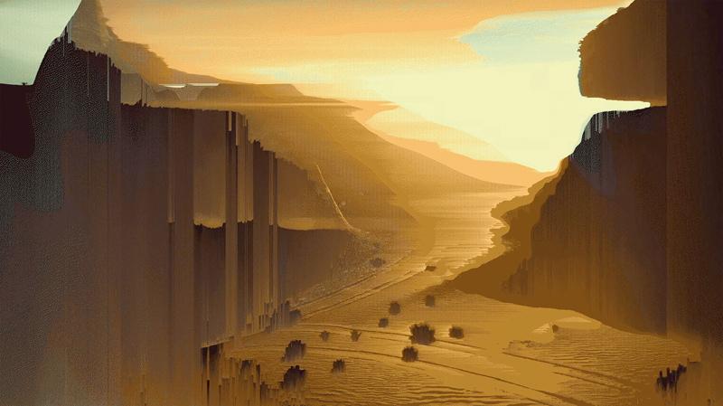 """Capture d'écran de la vidéo """"Legendary Reality"""" (2017) présentée à la Biennale de Sharjah."""