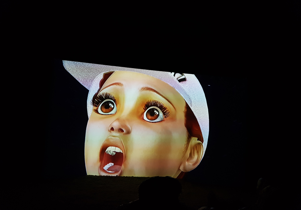 Clip from Jon Rafman's video, key moment at Art Basel Unlimited 2018.