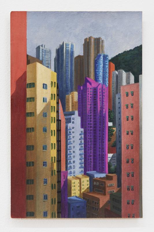 """""""Sheung Wan"""" (2019, de Louise Sartor. Gouache sur carton."""