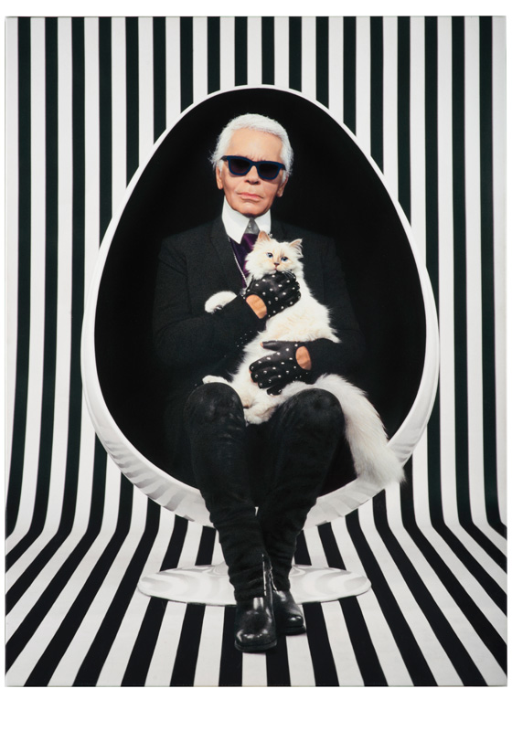 """Photo : Pierre et Gilles. """"For your eyes only"""", Karl Lagerfeld, 2013."""