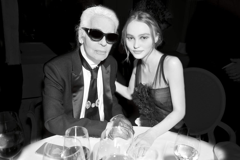 Karl Lagerfeld et Lily-Rose Depp - crédits Stéphane Feugère