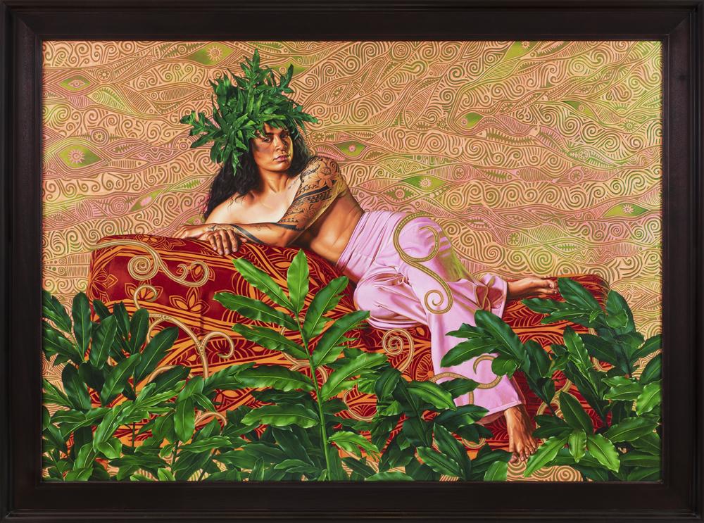 Portrait of Tuatini Manate, III, (2019), huile sur toile, 180 x 241,5 cm. © Diane Arques.