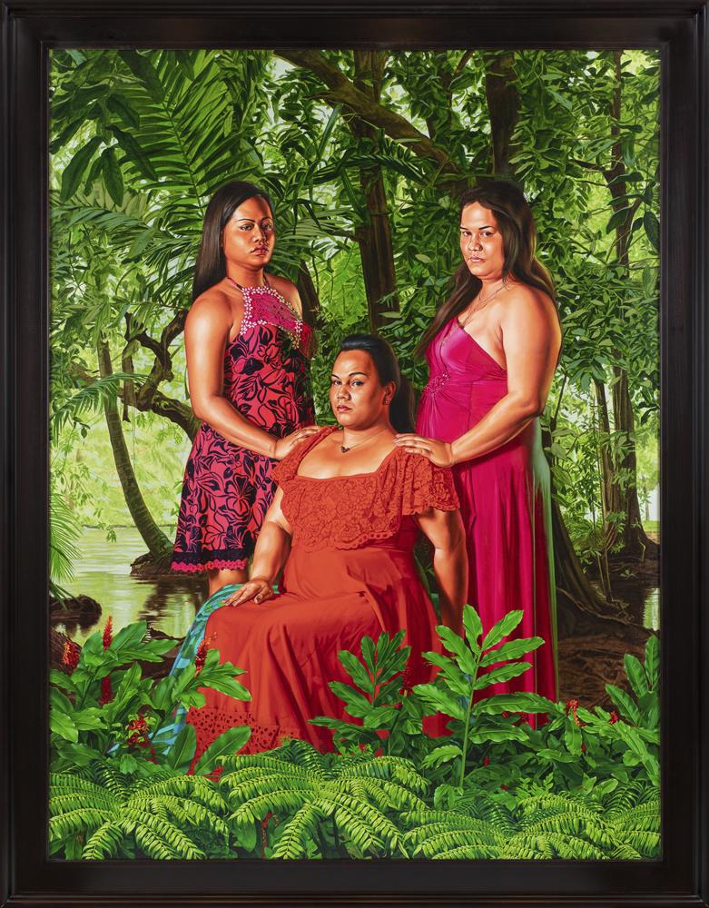 The Call, (2019), huile sur toile, 271,5 x 210 cm. © Diane Arques.