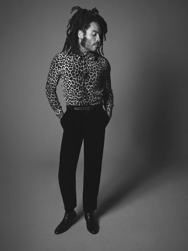 Lenny Kravitz par David Sims pour Saint Laurent