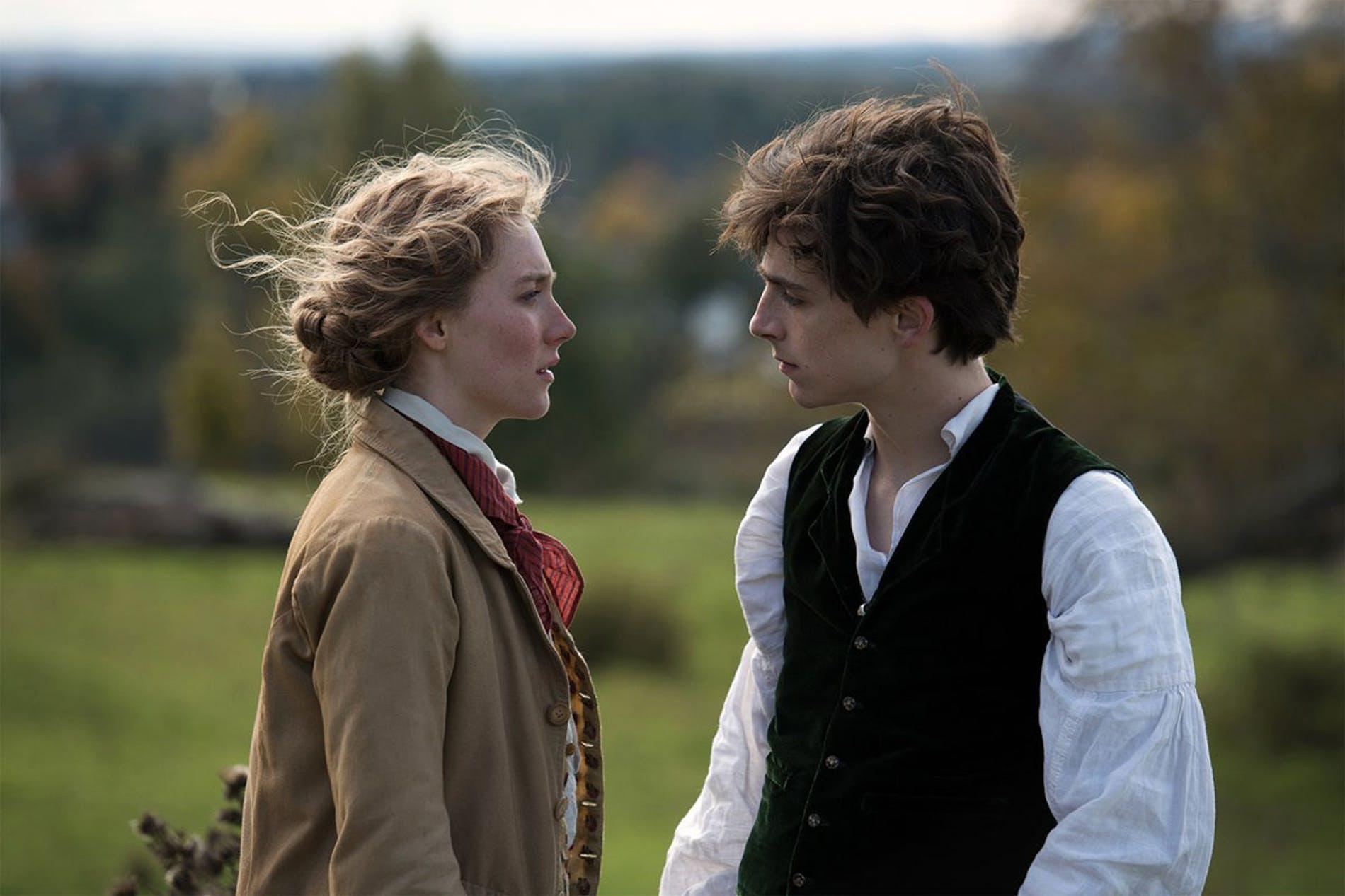 Saoirse Ronan et Timothée Chalamet.