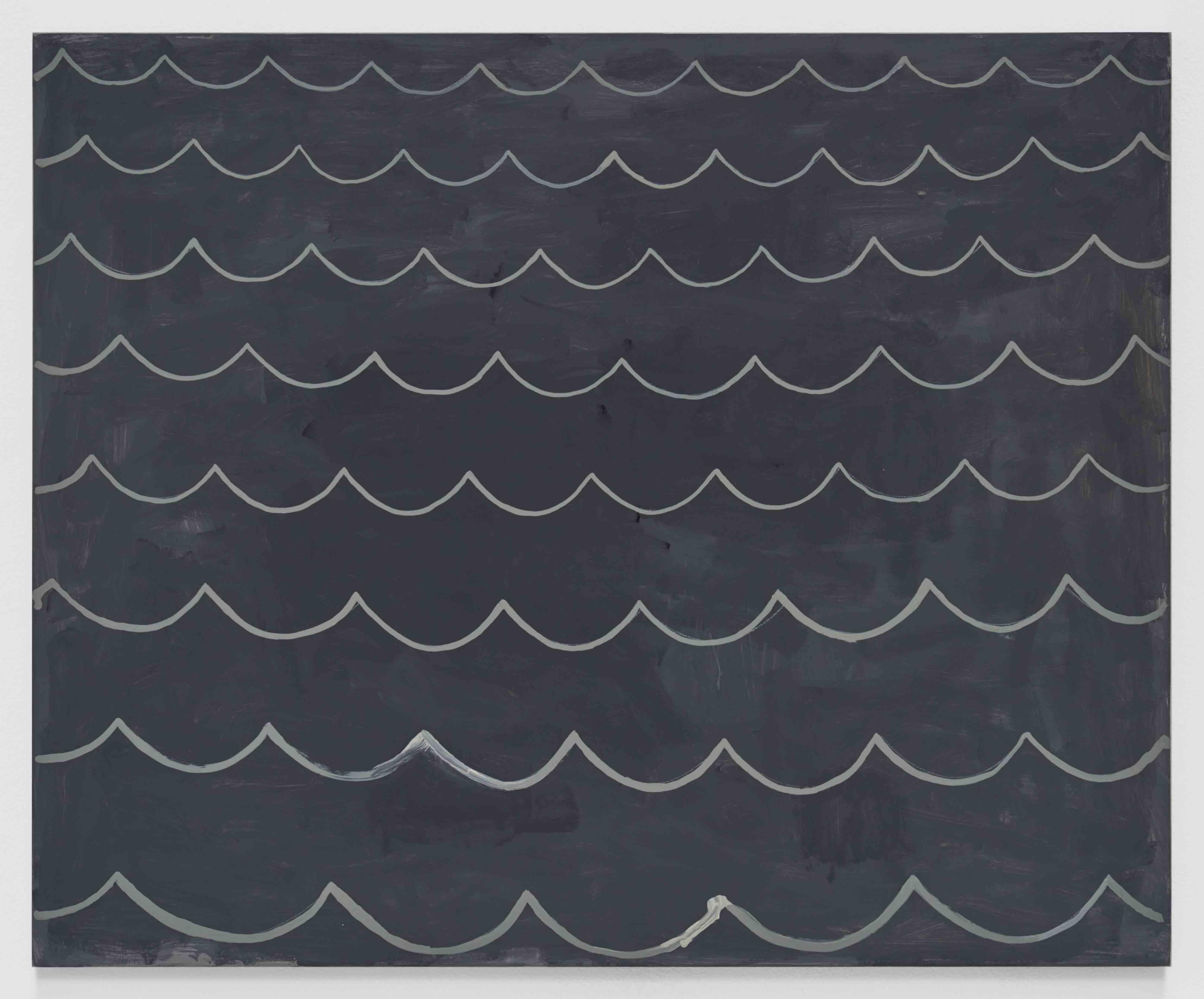 """""""Immortelle"""", Loïc Raguénès, 2017, tempera sur bois, 214 x 270,5cm"""