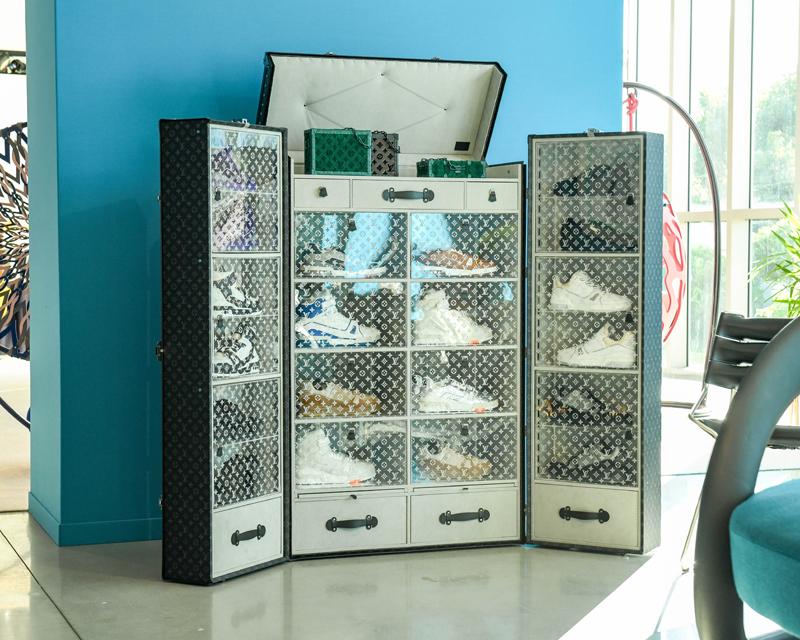 La Malle Sneakers. Vue de L'Atelier Louis Vuitton à Miami © BFA