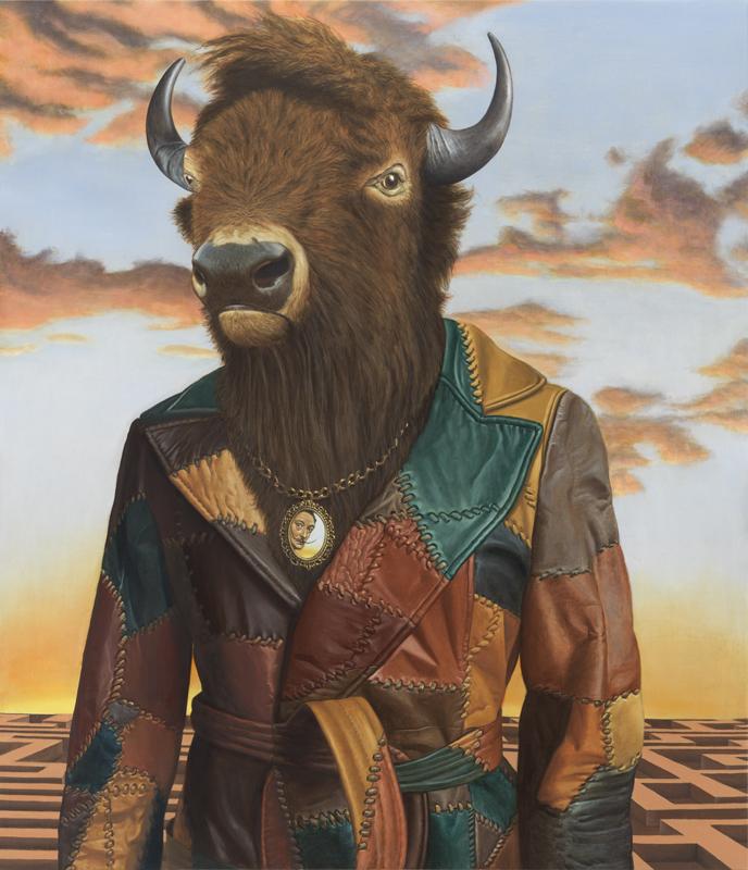 """Buffalo Minotaur"" (2016), huile sur lin, 127 x 109,2 cm. Sean Landers, courtesy of Capitain Petzel, Berlin. Photo : Christopher Burke Studio."