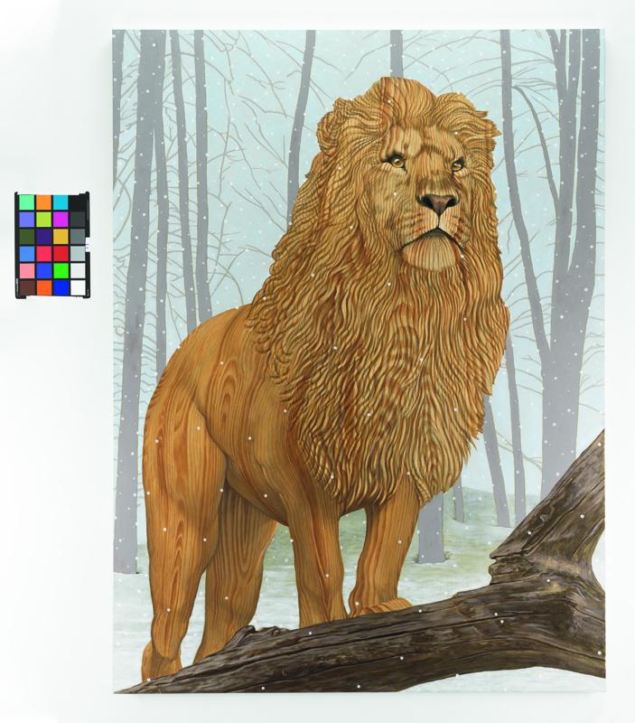 """Lion in Winter"", huile sur lin. Sean Landers, courtesy of Capitain Petzel, Berlin. Photo : Christopher Burke Studio."