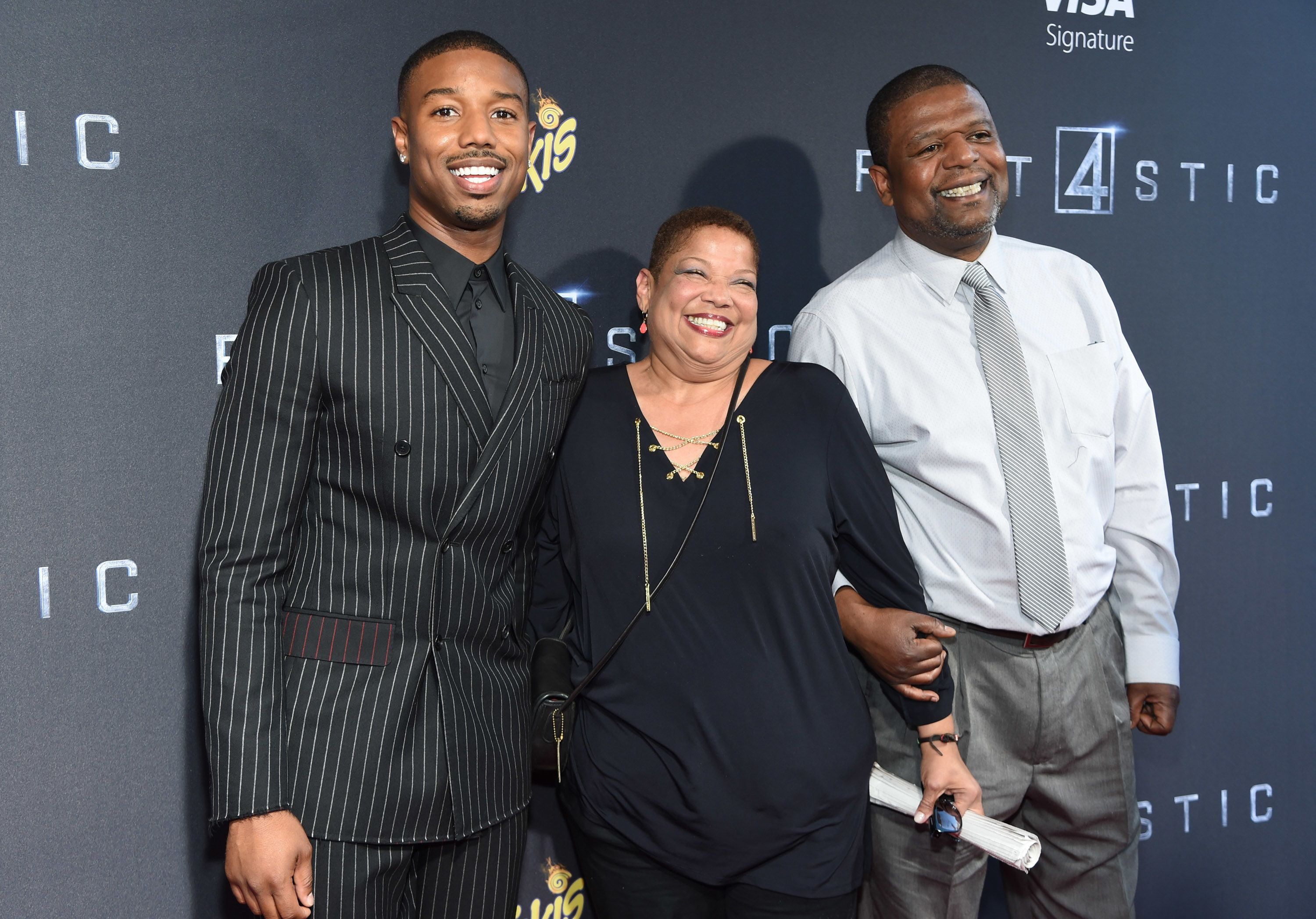 Michael B. Jordan et ses parents.