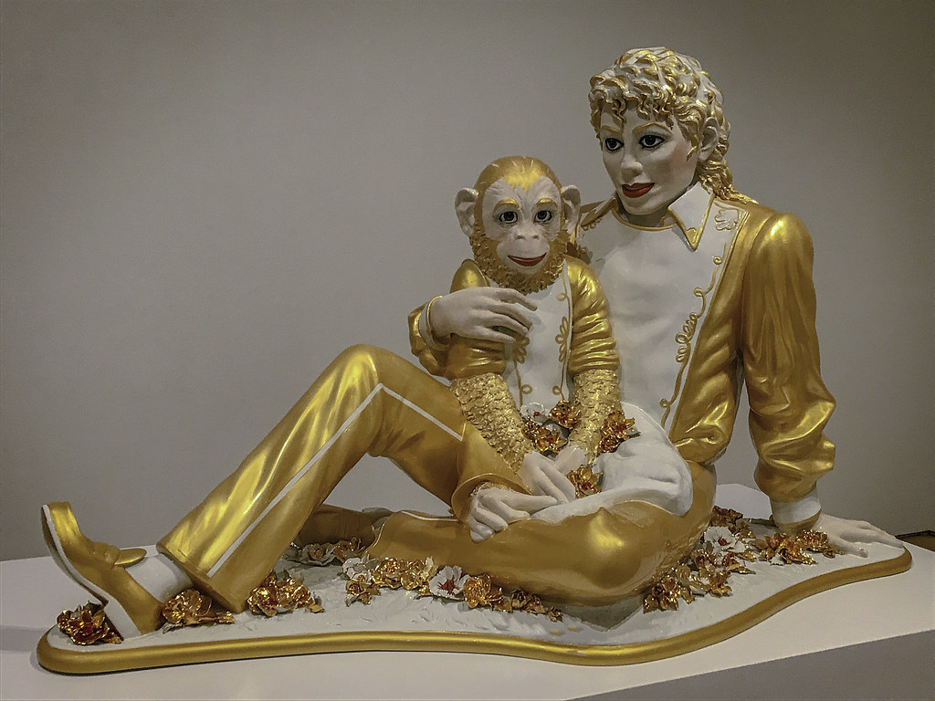 """Michael Jackson and Bubbles"", Jeff Koons, 1988."
