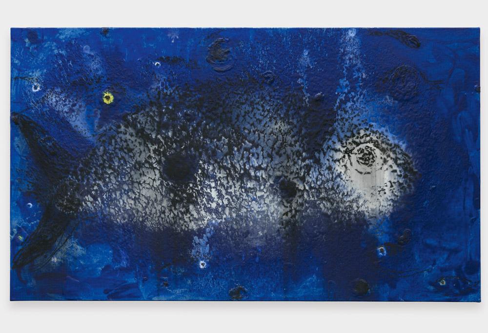 """""""Variada"""" (2016)de Miquel Barceló. Médias mixtes sur toile, 141 x 238 cm."""