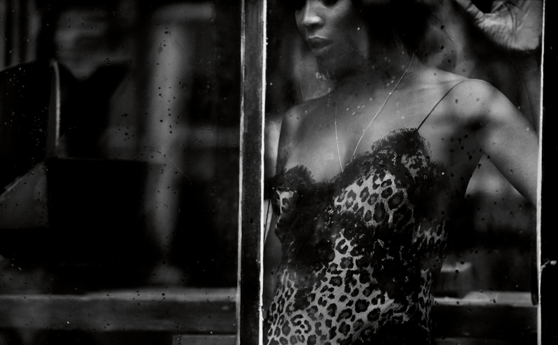 Leopard printed long dress, REDEMPTION. Necklace, TIFFANY&CO  Model: Naomi Campbell from ZZO. Hairstyle: Lorenzo Barcella from A ldo Coppola Agency. Makeup: Hila Karmand from One Represents. Manicure: Christina Conrad with Nars Cosmetics from Calliste Agency. Set: Jean-Hugues from Chatillon. Production assistant: Camille-Joséphine Teisseire and Clément Lomellini. Digital: Amélie Ambroise Lafond. Modification: Christian Tochtermann from Red Line Paris. Production: 2B Management.