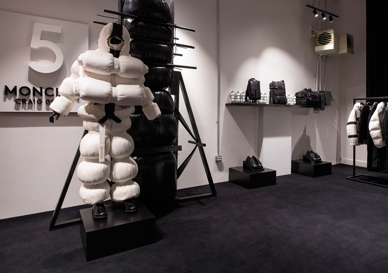 The House of Genius in New York, Moncler's new concept store. An installation of collection 5 - Moncler Craig Green.