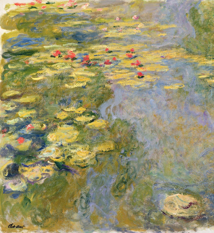Claude Monet, Le Bassin aux nymphéas, 1917-1919  Huile sur toile, 130 x 120 cm Inv. 5165 Paris, musée Marmottan Monet © Bridgeman Images