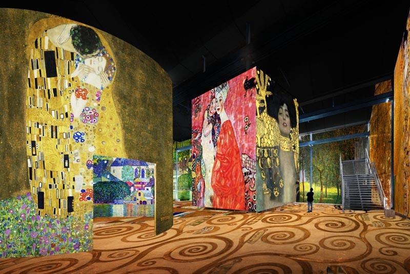 © Culturespaces / Nuit de Chine — Exposition Gustav Klimt (2018)