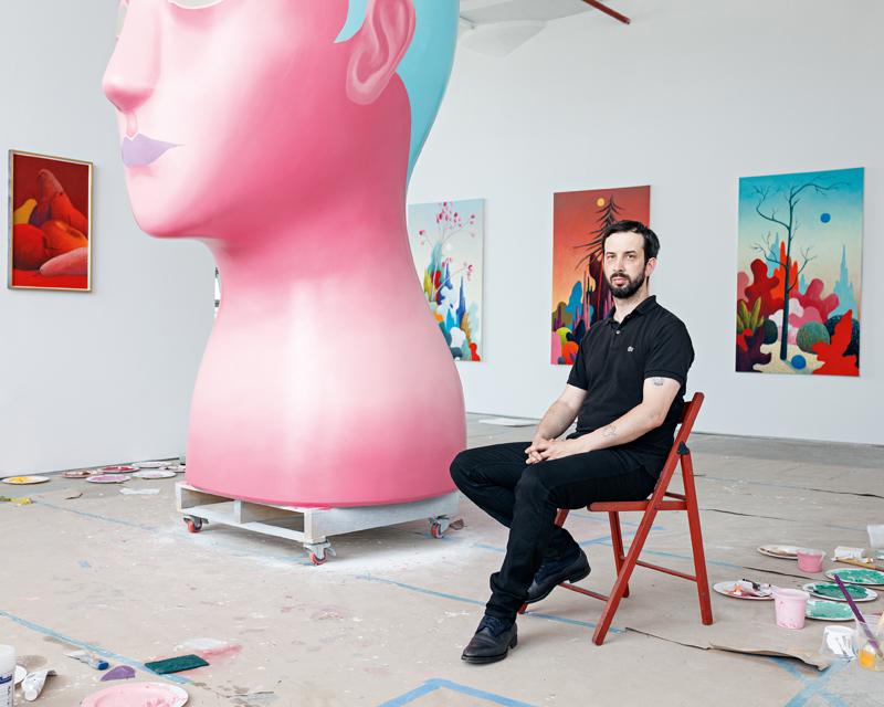 Nicolas Party. Photo: Axel Dupeux. Courtesy de l'artiste et Hauser & Wirth