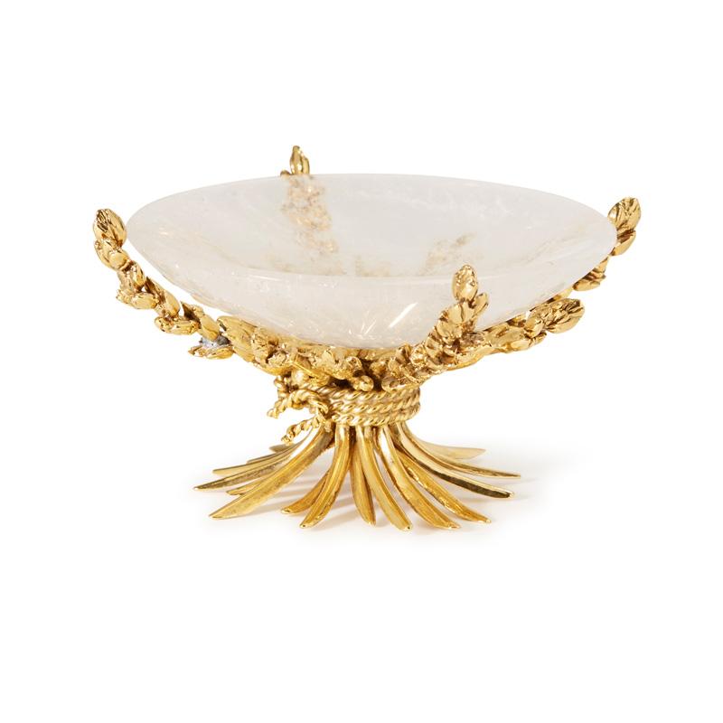 Coupelle épis de blé, inspirée d'une table créée par Robert Goossens pour Gabrielle Chanel puis rééditée pour Yves Saint Laurent.