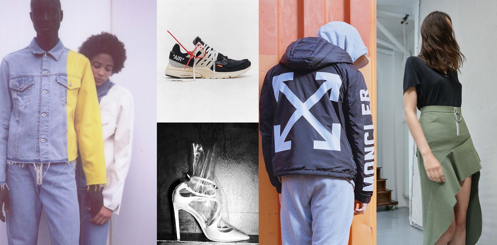 Off-White x Levi's, Virgil Abloh x Nike, Off-White x Jimmy Choo, Off-White x Moncler, Off-White x MyTheresa