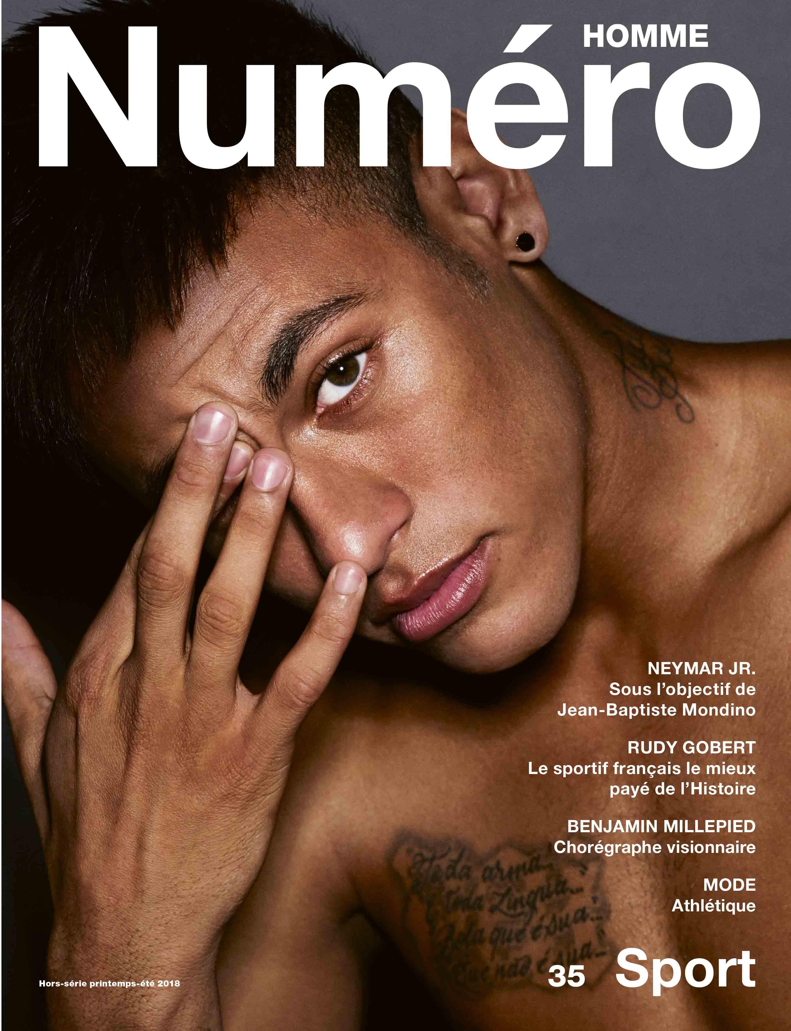 """Neymar Jr. par Jean-Baptiste Mondino pour Numéro Homme """"Sport"""""""