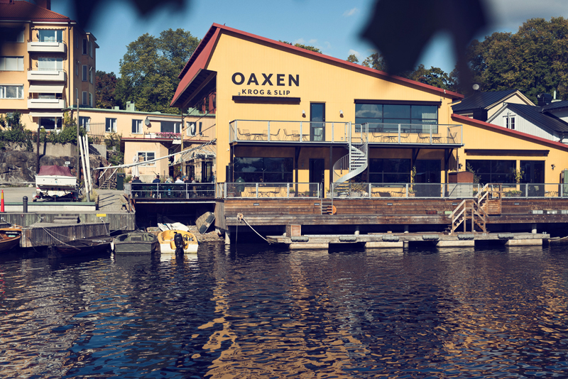 Le restaurant Oaxen au bord de l'eau