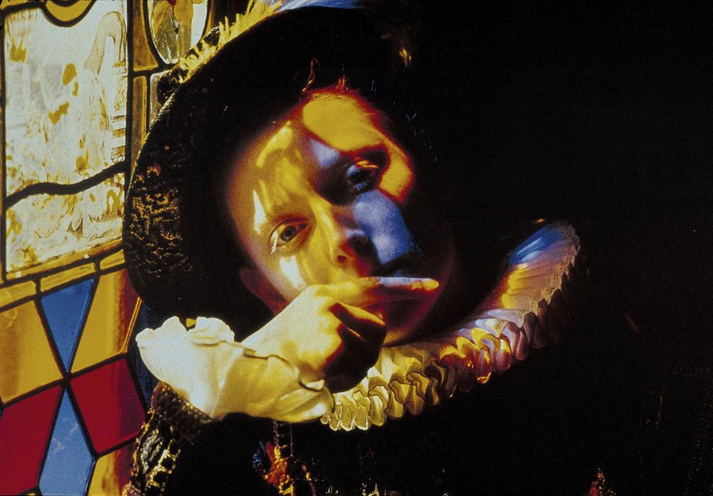 Tilda Swinton dans le rôle d'Orlando, pour le film Éponyme de Sally Potter, (été 1988).