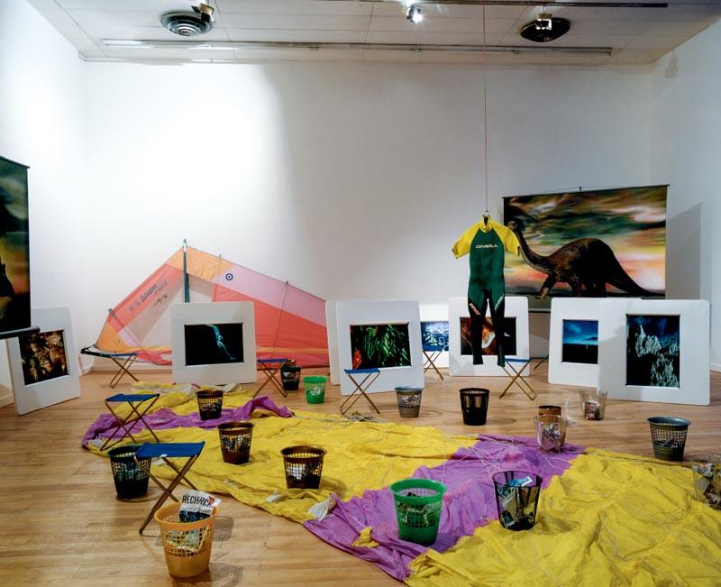 """Dominique Gonzalez-Foerster, Bernard Joisten, Pierre Joseph and Philippe Parreno, """"Ozone"""" (1989). Collection of the Fonds régional d'art contemporain Corse (destroyed). Photo: Le Magasin"""