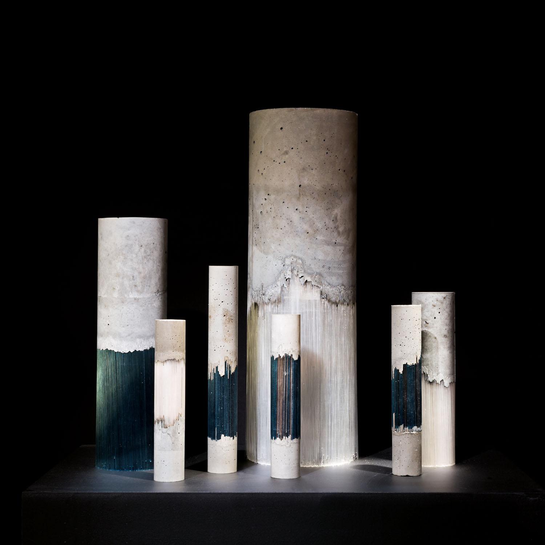 Une œuvre d'Harry Morgan en verre et béton qui lui a valu la mention spéciale du Loewe Craft Prize.