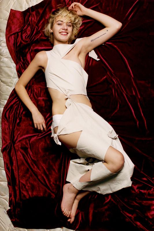 Leather dress and panties, DROME.