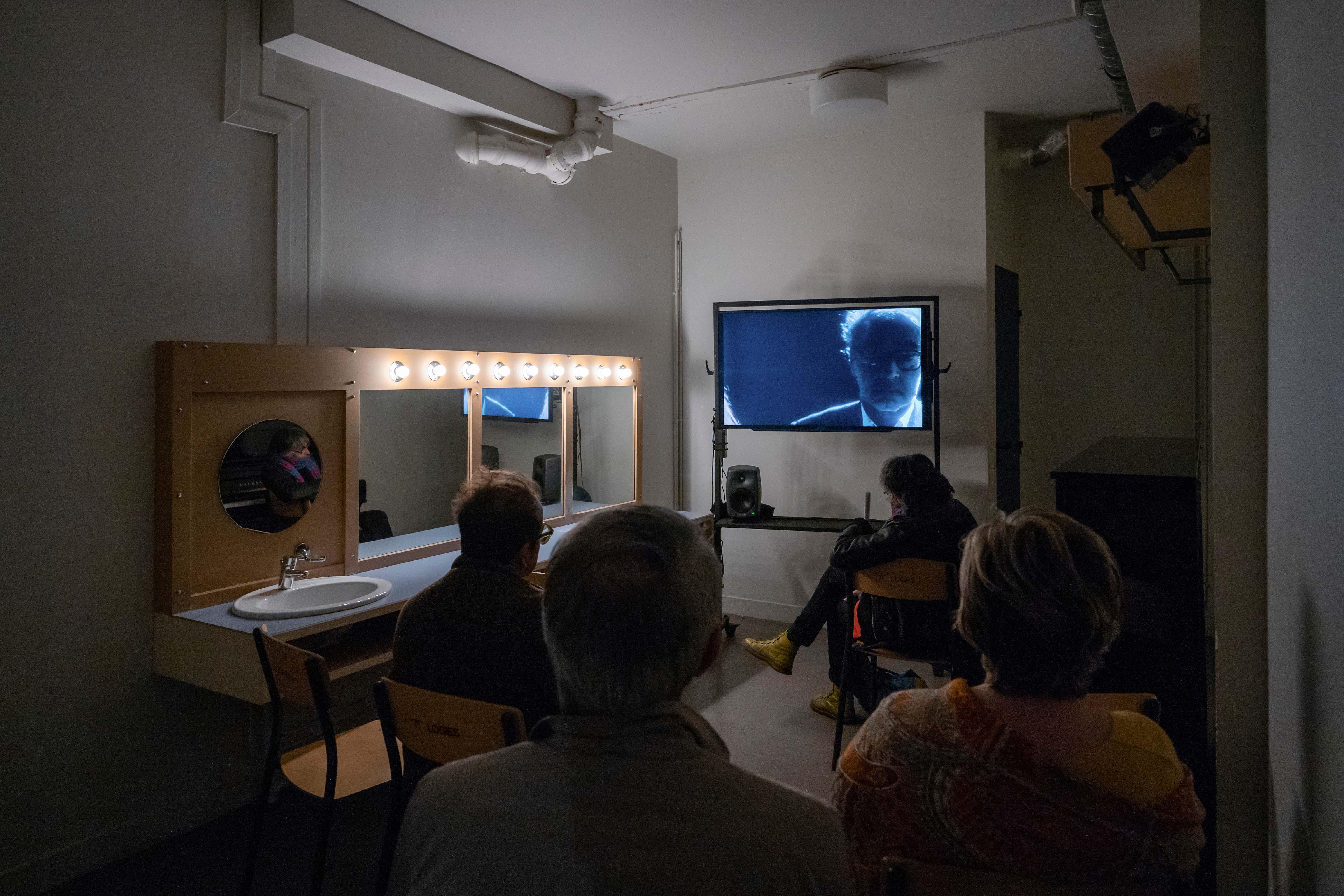 """""""Parcours Livre d'image"""" (2019), de Jean-Luc Godard au théâtre Nanterre-Amandiers. © Martin Argyroglo"""