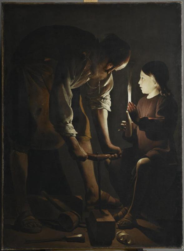 """""""Saint Joseph charpentier"""", Georges de la Tour, vers 1642 © 2014 RMN-Grand Palais (musée du Louvre) / Michel Urtado"""