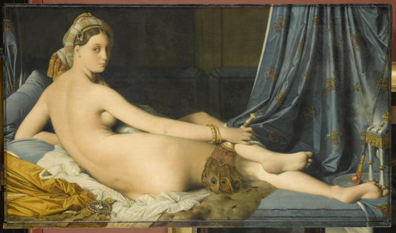 """""""Une odalisque"""", dite """"La grande odalisque"""", Jean-Auguste-Dominique Ingres, 1814 © 2017 RMN-Grand Palais (musée du Louvre) / Franck Raux"""