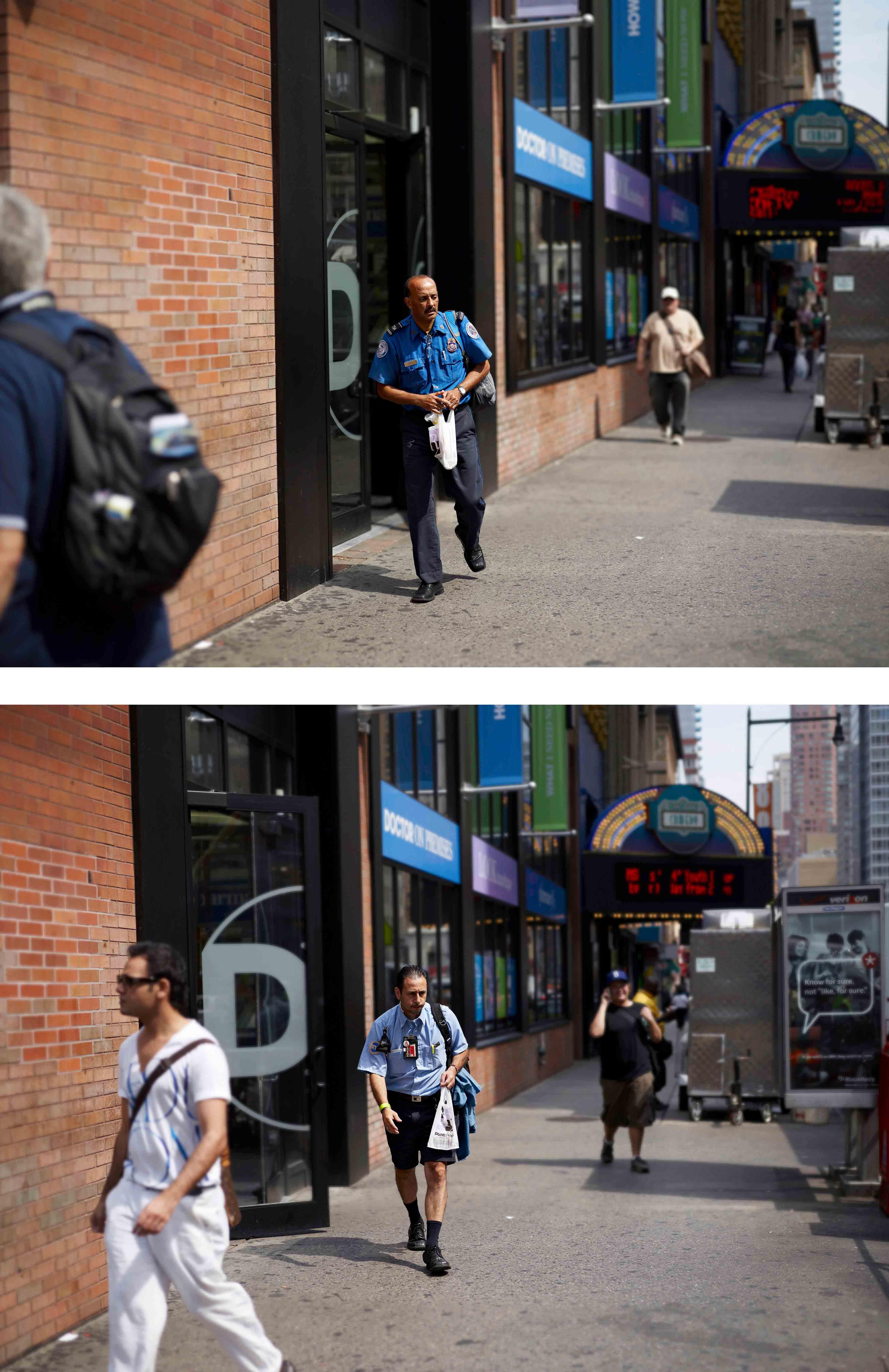 "Paul Graham, ""8e avenue et 42e rue"", 17 août 2010, 11 h23' 03'', série ""The Present"", 2010. Avec l'aimable autorisation de Pace/MacGill Gallery, New York ; Carlier | Gebauer, Berlin ; Anthony Reynolds Gallery, Londres."