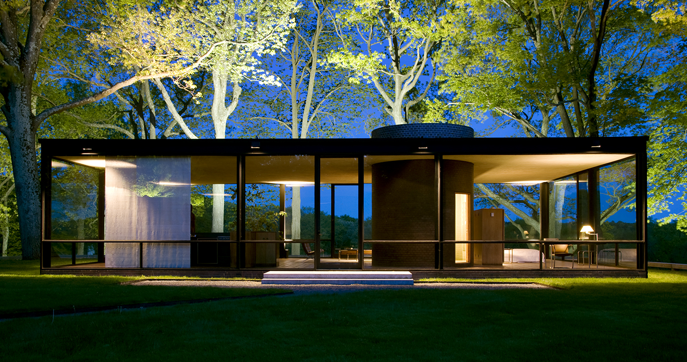 La Glass House de Philip Johnson