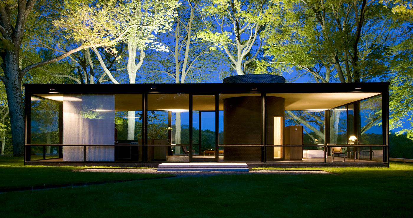 La Glass House de Philip Johnson