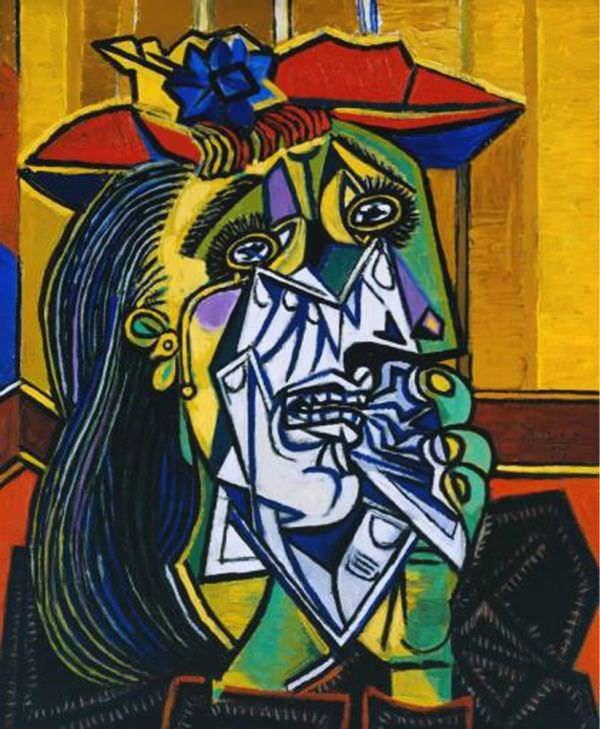 """""""La Femme qui pleure"""" (1937) de Pablo Picasso."""
