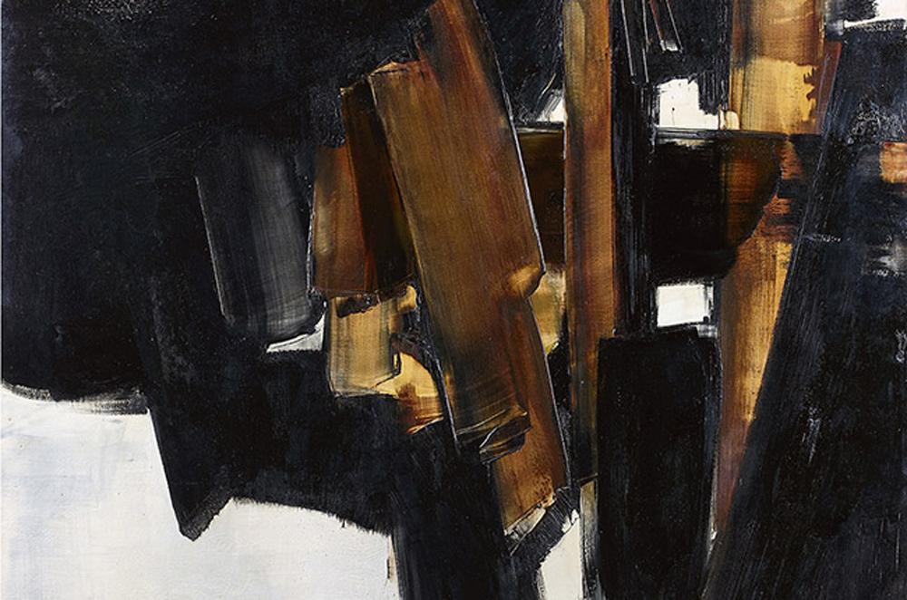 """Pierre Soulages """"Peinture, 200 × 162 cm, 14 mars 1960"""""""