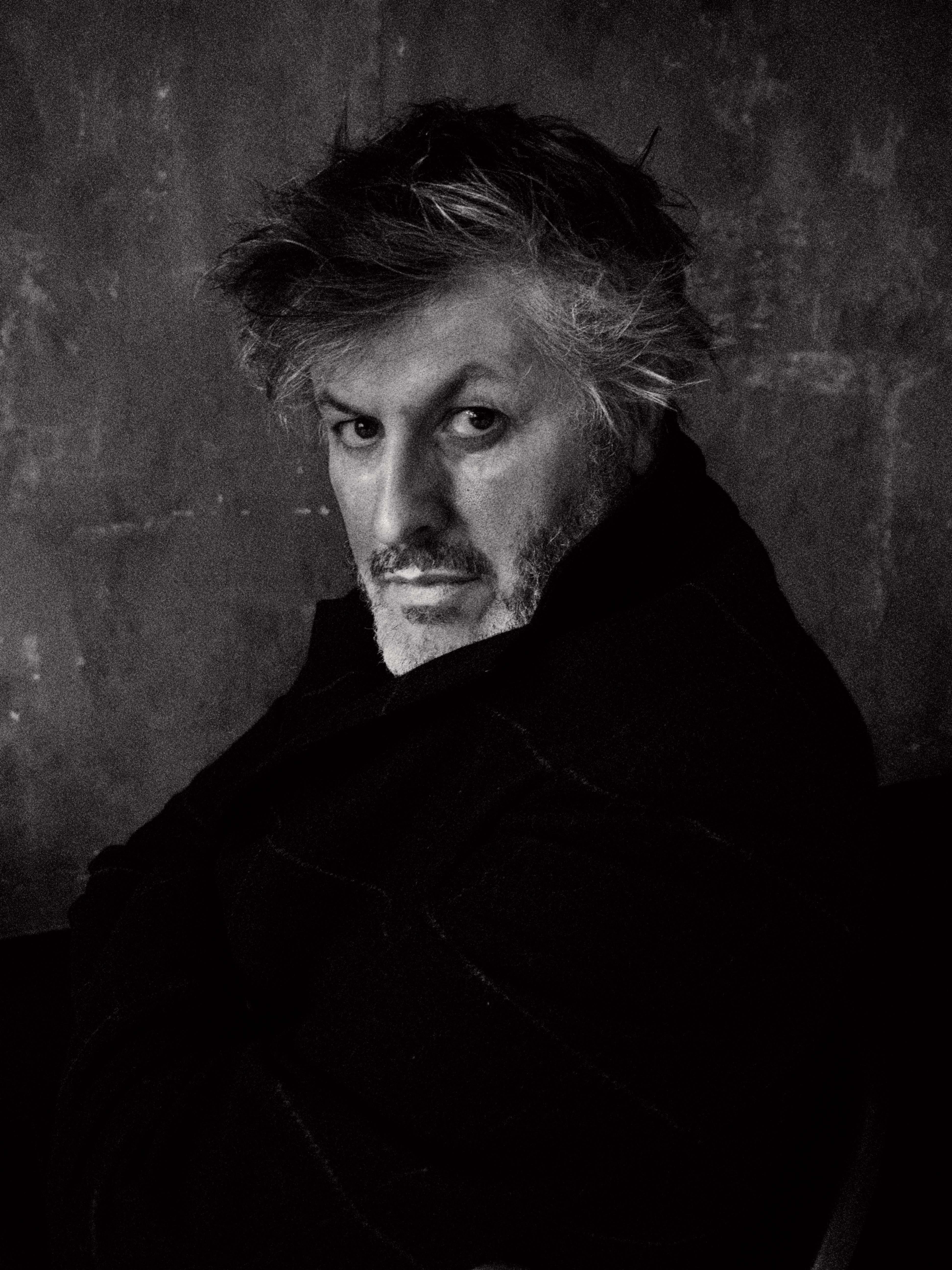Manteau croisé en laine et cachemire imprimés, Hermès.