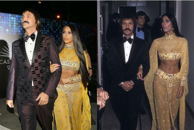 Kim Kardashian rend hommage à Sonny et Cher. Instagram