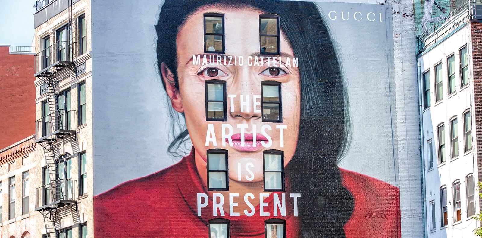 L'Art wall de Gucci à New York.