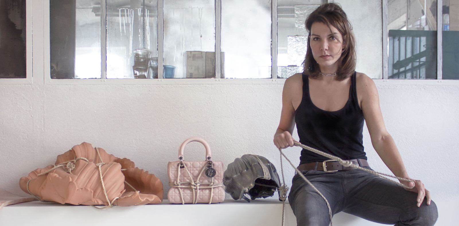 725d0098c11b Artist Morgane Tschiember transforms the Lady Dior bag into an erotic object