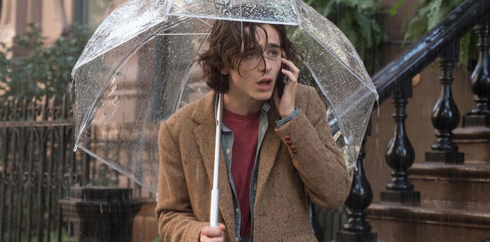 """Timothée Chalamet dans """"A Rainy Day in New York"""" de Woody Allen."""
