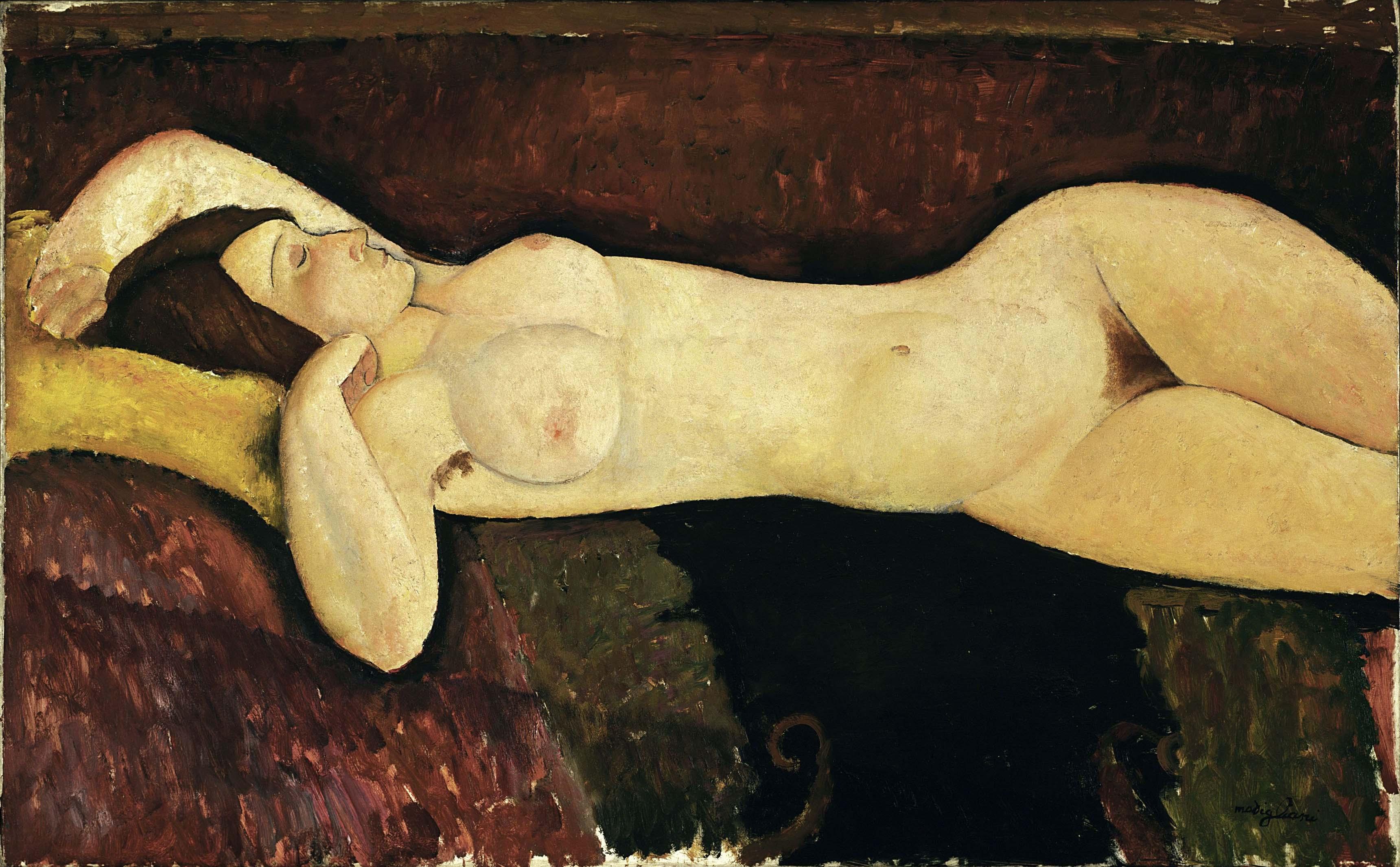 Modigliani, Reclining Nude, 1919