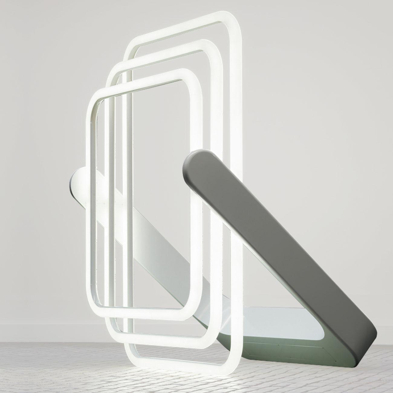 3CL (2015) de Philippe Nadson. Lampe en PMMA et LED. Galerie Perpitch & Bringand, www.perpitch-bringand.com