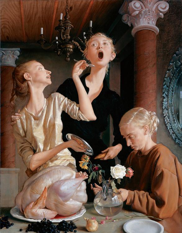 """""""Thanksgiving"""" (2003). Huile sur toile, 172,7 x 132,1 cm."""